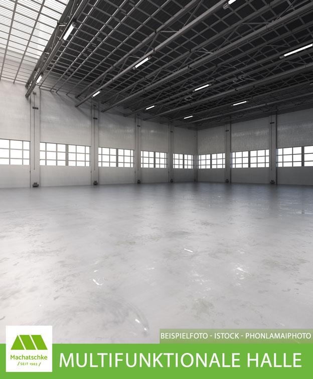 Multifunktionales Solitärobjekt für Lager, Produktion und Logistik mit Freifläche